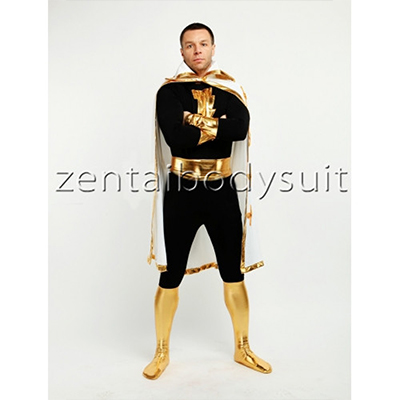 Black Spandex Captain Marvel Superhero Costume