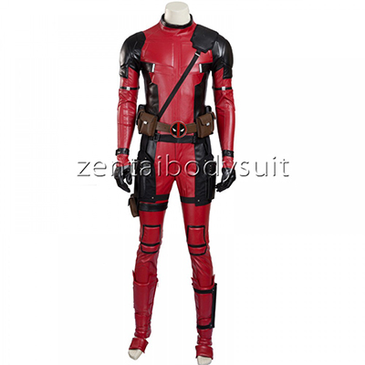 Deadpool Leather Cosplay Superhero Costume