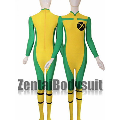 Rogue Costume,X-men Rogue Spandex Superhero Zentai Costume Suit