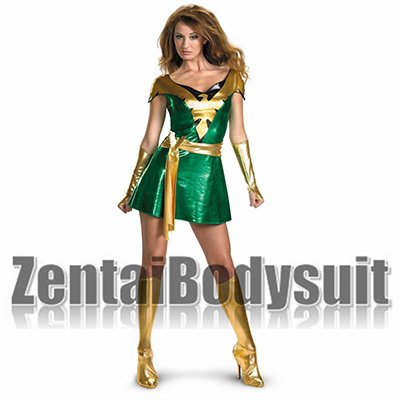X-Men Jean Grey Phoenix Shiny Metallic Superhero Costume