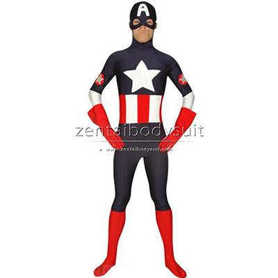 Captain America Costume Spandex Custom Superhero Zentai Suit