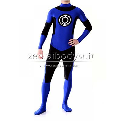 Custom Blue Cosplay Lantern Crops Zentai Costume