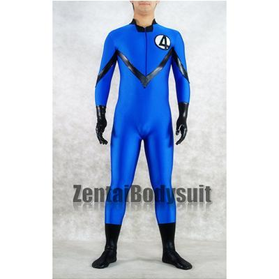 Navy Blue And Black Fantasitic Four Superhero Costume