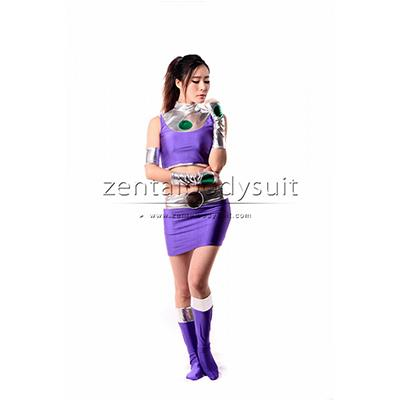 Sexy DC Starfire Female Costume Zentai Cosplay Costumes