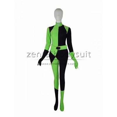 Shego Of Disney's Kim Possible Female Spandex Super Villain Costume