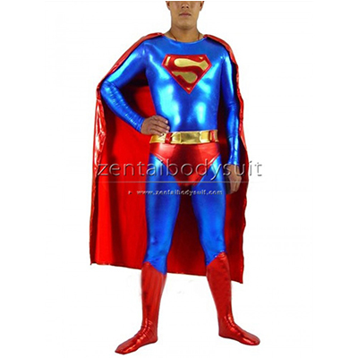 Superman Superhero Metallic Costume