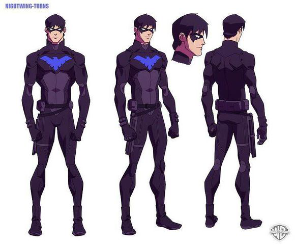 "The Evolution of Richard John "" Dick"" Grayson (Nightwing)'s Spandex Costume"